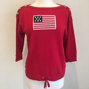Lauren Ralph Lauren red American flag sweatshirt